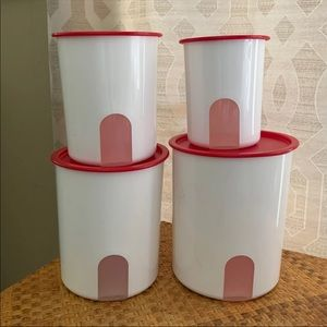 Tupperware One Touch Reminder Canisters